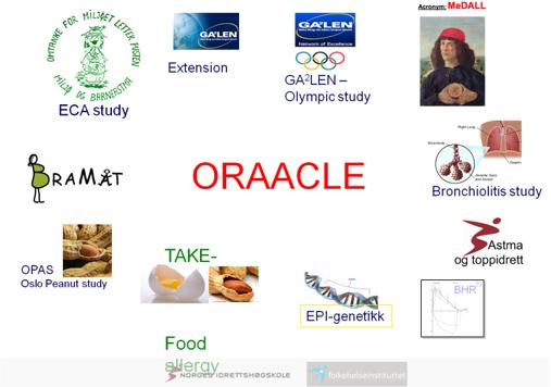 Grafisk fremstilling av ORAACLE-gruppens pågående prosjekter