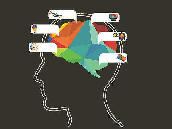 Illustrasjon: hodesilhuett med snakkebobler