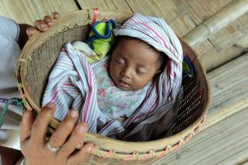Newborn baby in Myanmar.