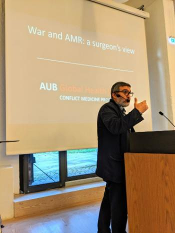 Ghassan Abu-Sittah, Head of Plastic and Reconstructive Surgery & Co-Director of the Conflict Medicine Program at the Global Health Institute, American University of Beirut