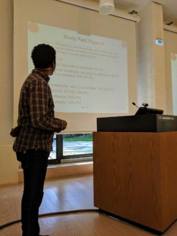 "PhD student presenter: ""Pharmaceurical Medicines and Medical Plants Use and Related Problems Among Pregnant Women in Ethiopia"" by Seid Mussa Ahmed, PhD student, Department of Pharmacy, UiO"