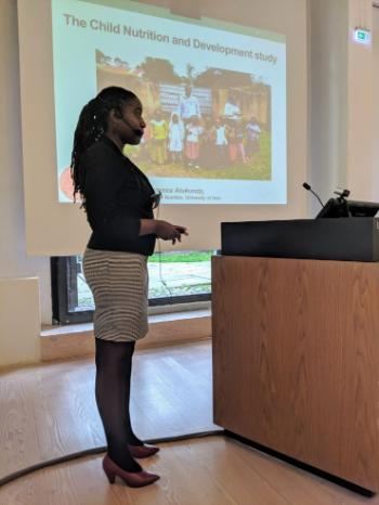 RELIGHT winner: The Child Nutrition and Development (CHNUDEV) Project in Rural Uganda: Exploring the Sustainability of a Maternal Education Intervention by project member, Prudence Atukunda, PhD student, Makerere University, Uganda