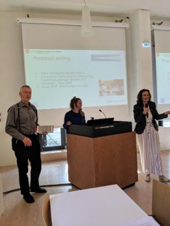 RELIGHT winner: Digital Health Promotion in the Global South (ProDHP) by project leader, Josef Noll and member, Christine Holst, Doctoral Research Fellow, Department of Community   Medicine and Global Health, UiO