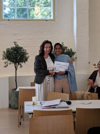 "PhD presentation winner: ""Closing Gaps in Maternity Care to Recent Migrant Women in Norway: a study to assess women's experiences"" by Sukhjeet Bains, PhD student, Oslo University Hospital"