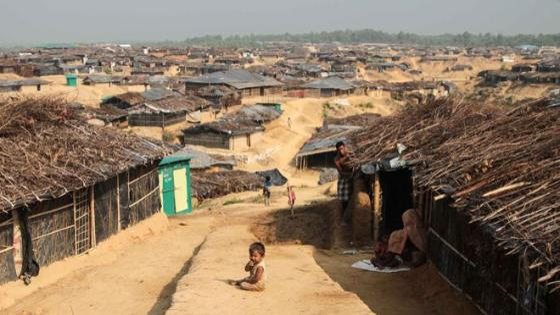 Kutupalong refugee camp in Bangladesh