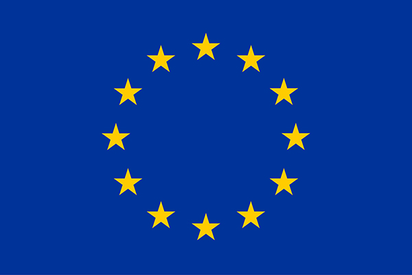 EU flag - blue with yellow stars