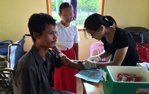 Blood testing in Myanmar