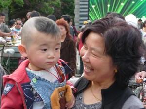 Mor med barn i Kina