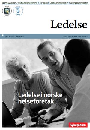 Forsiden til Sykepleien Ledelse 1, 2016