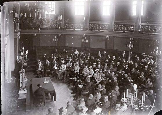 Nansen taler i gamle festsal i 1905