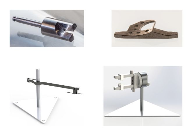 Examples of work done by the mechanical workshop