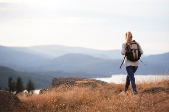 Image of a woman in nature.