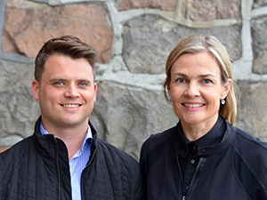 Foto av Erlend Strønen til venstre og til høyre Johanna Olweus.