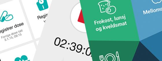 Illustrasjon av ulike apper