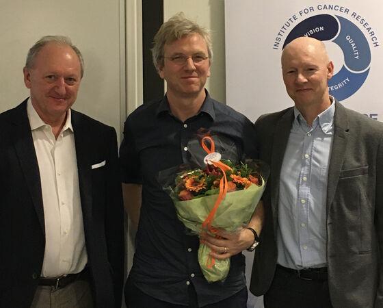 Bilde av f.v. Carl Konow Rieber-Mohn, Karl-Johan Malmberg og Harald Stenmark.