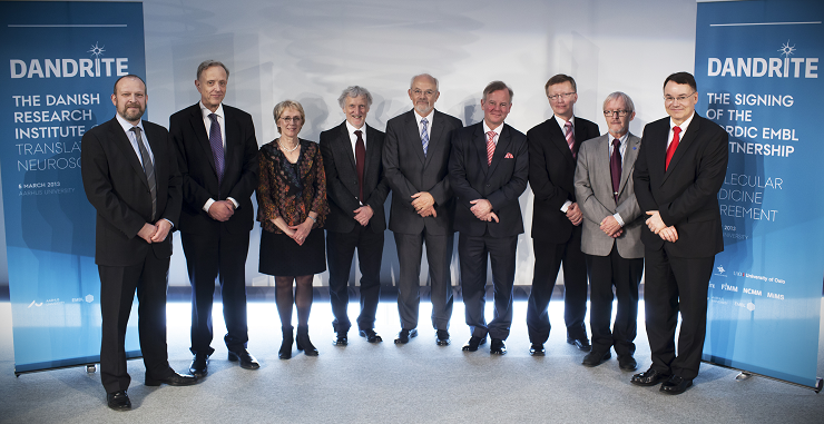 Photo of the 9 representatives from the four nodes of the Nordic EMBL partneship network.