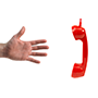 Illustration image of a hand reaching for a phone