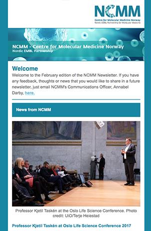 Screenshot of NCMM Newsletter