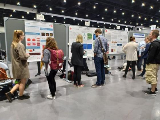 Picture of the poster session at the annual meeting