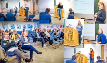 Collage of photos from the seminar
