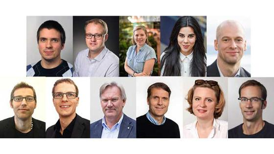 Bildet viser portrettbilder av elleve mennesker.