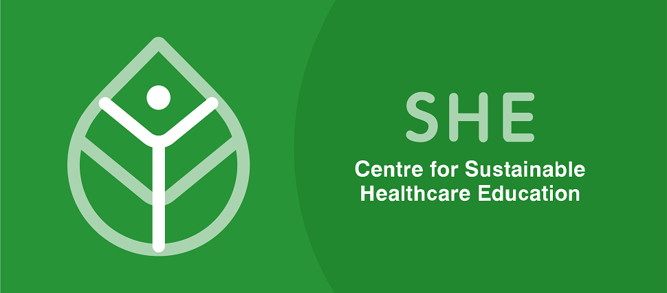 Logo of SHE, a human beeing in a green tree